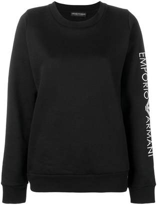 Emporio Armani embroidered sleeve jersey