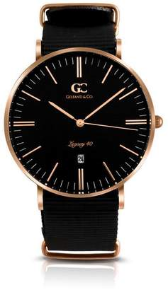 Columbia Gelfand & Co. 40mm Men's Rose Gold with Dial NATO Strap Minimalist Watch
