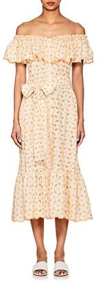 Lisa Marie Fernandez Women's Mira Embroidered-Eyelet Cotton Dress