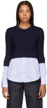 Kenzo Navy and Blue Mix Sweater