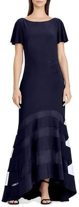 Lauren Ralph Lauren Illusion Jersey Gown