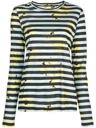 Proenza Schouler Crewneck Striped Long Sleeve Tee
