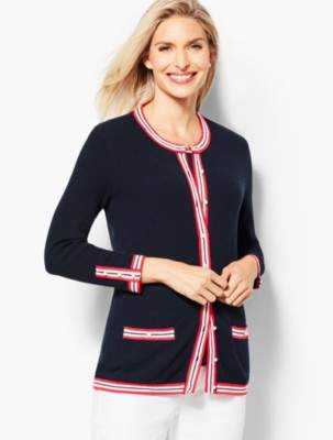 Talbots Textured Tipped Cardigan