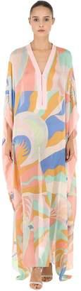 Emilio Pucci Printed Silk Long Caftan Dress