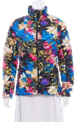 The North Face Floral Zip-Up Coat