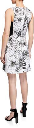 Karen Millen Sleeveless Botanical Print Dress