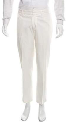 Brunello Cucinelli Woven Flat-Front Pants