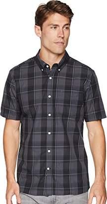 Hurley Men's Apparel Men's Dri-Fit Castell Plaid Short Sleeve Button up
