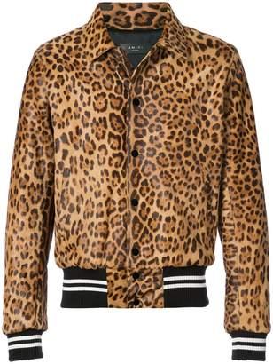 Amiri leopard band jacket