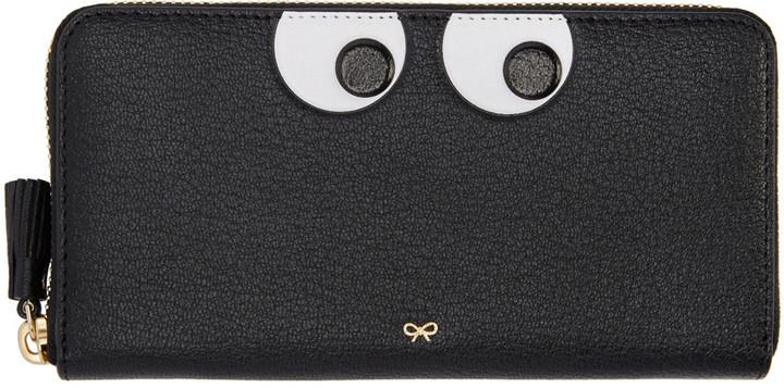 Anya HindmarchAnya Hindmarch Black Large Eyes Wallet
