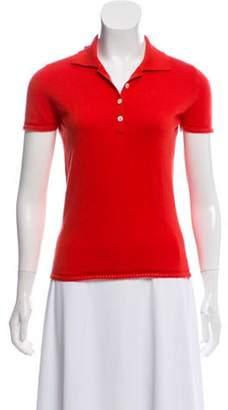 Loro Piana Short Sleeve Polo Top Red Short Sleeve Polo Top