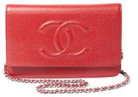 Vintage Red Caviar Timeless CC Wallet On A Chain (WOC)