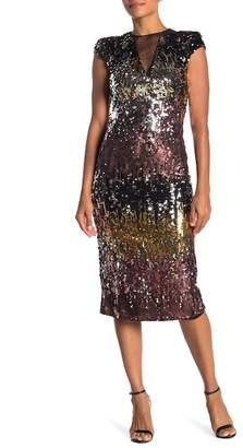 Isabel Garcia Sequin Midi Dress