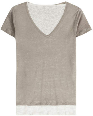 Majestic Layered Linen T-Shirt