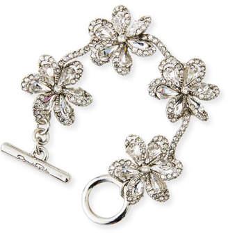 Oscar de la Renta Crystal Delicate Flower Bracelet