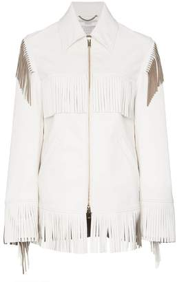 Stella McCartney Faux Leather Fringed Jacket