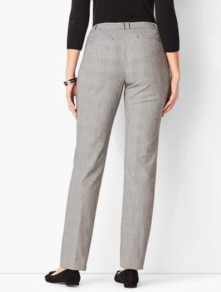 Talbots Bi-Stretch High-Waist Straight-Leg Pant - Curvy Fit/Plaid