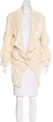 Stella McCartney Open Knit Long Sleeve Cardigan