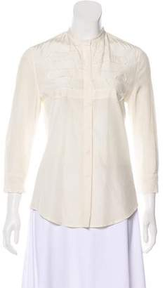 Boy By Band Of Outsiders Silk-Blend Button-Up Top