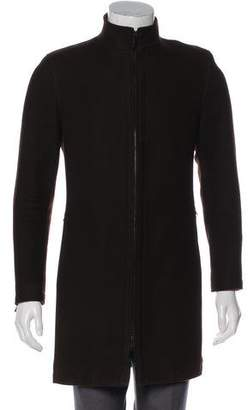 Givenchy Zip-Accented Wool Coat