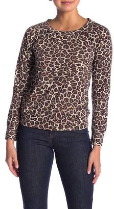 Love, Fire Holey Leopard Patterned Sweatshirt