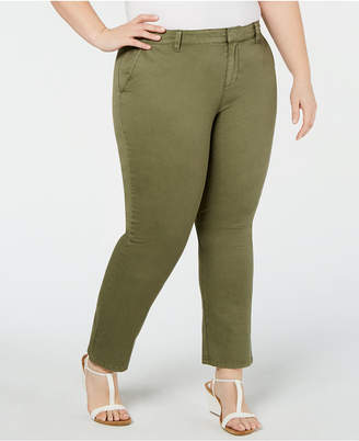 Style&Co. Style & Co Plus Size Mid-Rise Chino Pants