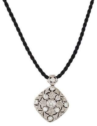 Barry Kronen 18K Diamond Locket Pendant Necklace
