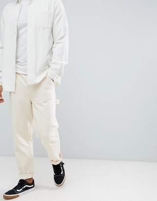 fab743804 Asos Design DESIGN carpenter pants in heavyweight cream canvas