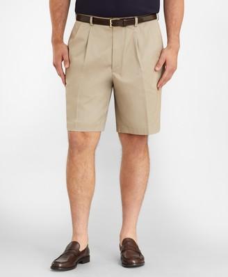 Brooks Brothers Big & Tall Pleat Front Stretch Advantage Chino Shorts