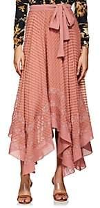 Zimmermann Women's Swiss Dot Silk Skirt - Rose