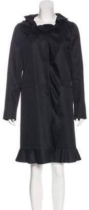 Prada Satin Knee-Length Coat w/ Tags