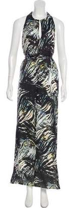 Magaschoni Silk Printed Maxi Dress
