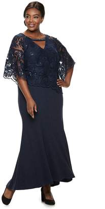 20bbb33da1a19 Le Bos Plus Size Embroidered Sequin Dress
