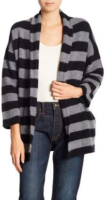 Vince Striped Open Cardigan