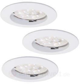 3er Set runder LED-Downlight DIM