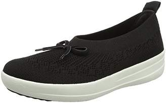 efb4cac49466d FitFlop Women Uberknit Slip-on Ballerina with Bow Closed Toe Ballet Flats