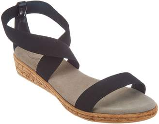Co Charleston Shoe Multi Strap Wedge Sandals - Easton