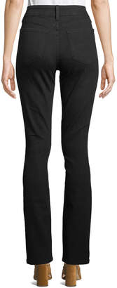 NYDJ Samantha Slim-Straight Jeans, Black