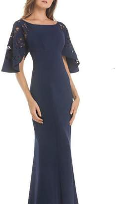 Kay Unger Short Sleeve Gown