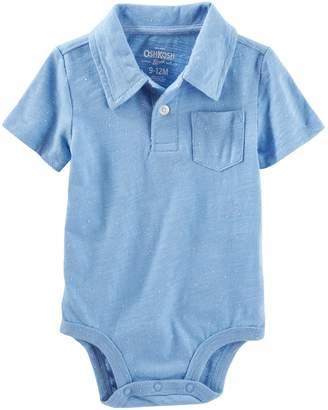 Osh Kosh Oshkosh Bgosh Baby Boy Slubbed Pocket Polo Bodysuit