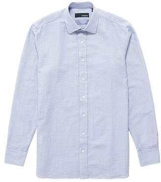 Lardini Micro check seersucker shirt