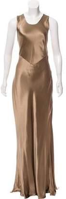 Ralph Lauren Silk Open Back Evening Dress