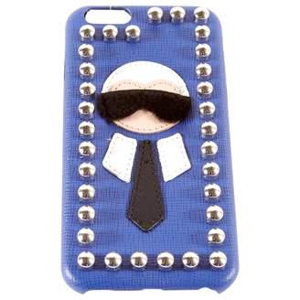 Fendi Karlito Leather Phone Charm