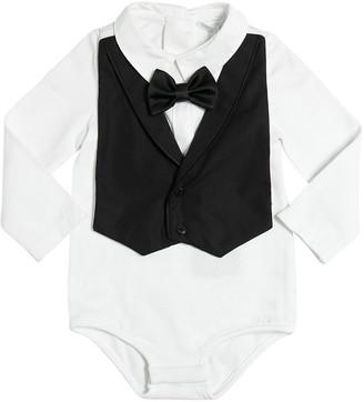 Dolce & Gabbana Cotton Jersey Bodysuit & Bib