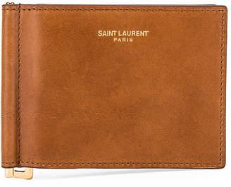 Saint Laurent Wallet in New Amber | FWRD