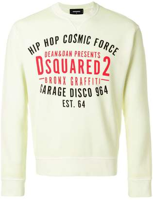 DSQUARED2 Bronx Graffiti print sweatshirt