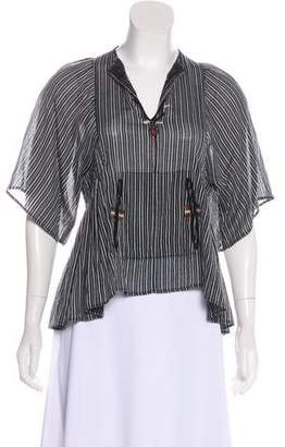 Etoile Isabel Marant Embroidered Striped Top