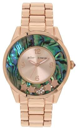 Betsey Johnson Women's To The Moon Analog Quartz Bracelet Watch, 40mm