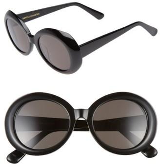 Women's Gentle Monster Red Pocket 52Mm Round Sunglasses - Black $260 thestylecure.com