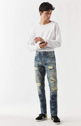 Pacsun Skinny Ripped Bleach Jeans